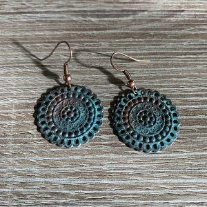 Jewelry - Gorgeous copper verdigris Earrings